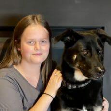 Bryanna and dog